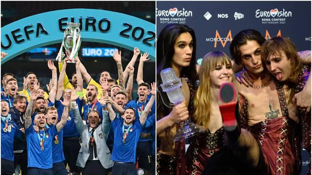 Talijani su jedini u povijesti u istoj godini osvojili Eurosong i Europsko nogometno prvenstvo