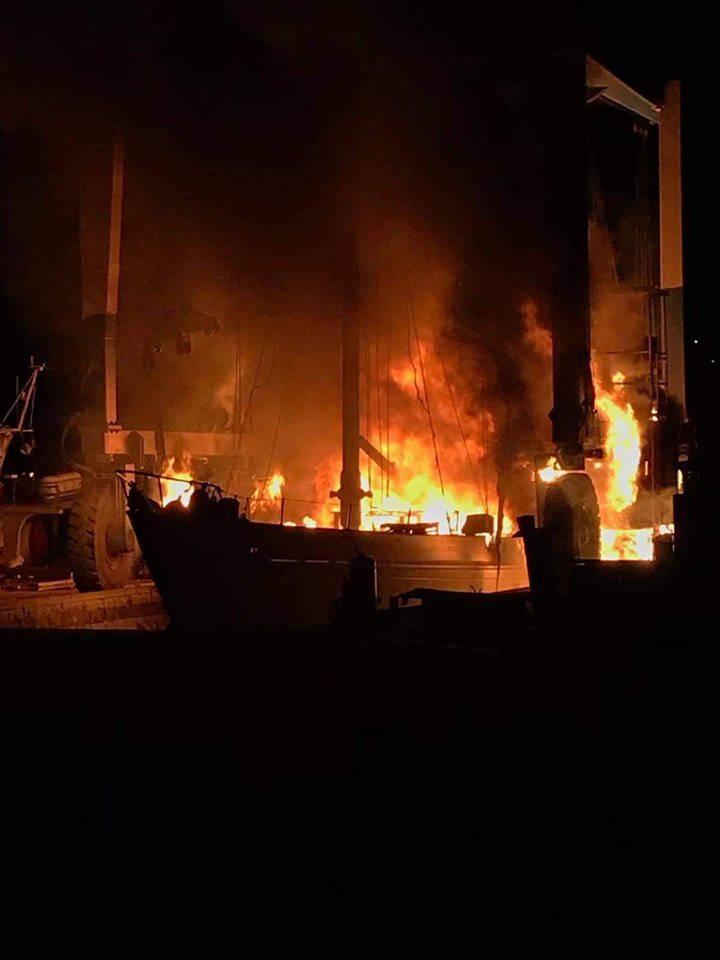 'Požar nije buknuo kod nas već u brodogradilištu u Murteru'