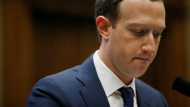 Facebook CEO Mark Zuckerberg testifies before the House Energy and Commerce Committee hearing in Washington