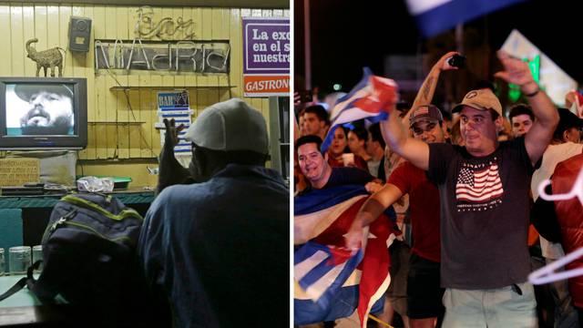 Havana tuguje zbog Castrove smrti, u Miamiju veliko slavlje