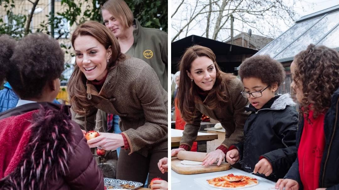 Vidi malu kako miješa: Kate je volontirala i djeci radila pizzu