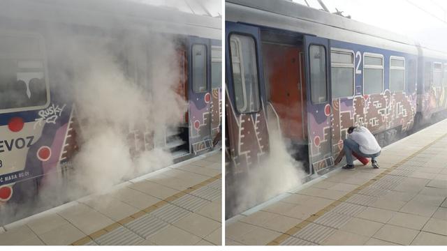 Požar u vlaku kod Vrbovca: Putnici sami krenuli gasiti vatru