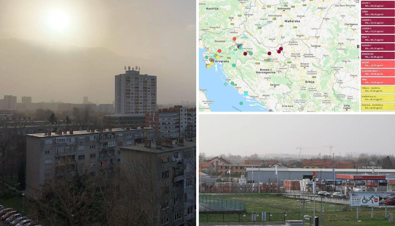Oprez! Zrak u Zagrebu postao danas najzagađeniji u svijetu