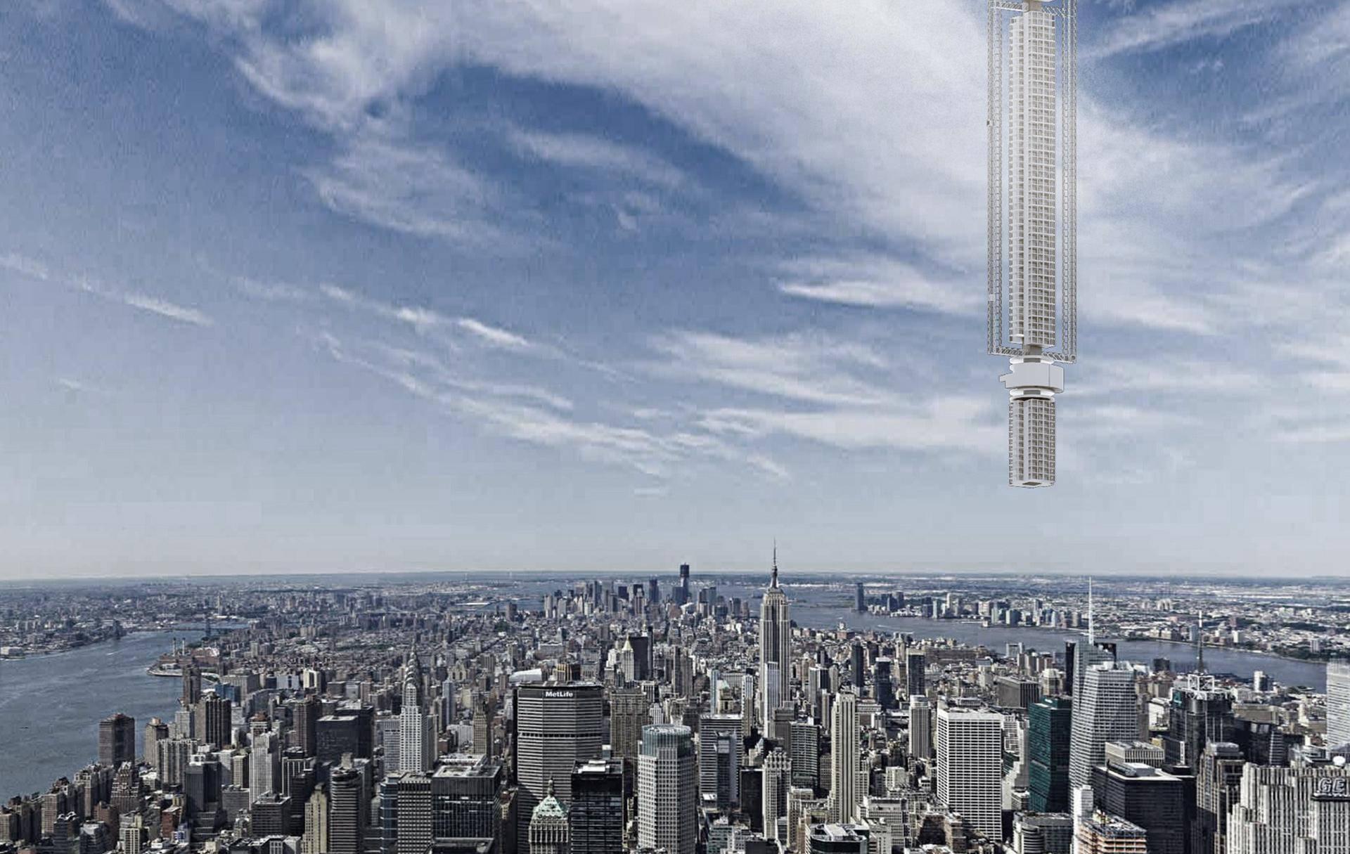 Prava SF zgrada: Neboder bi objesili s asteroida u svemiru