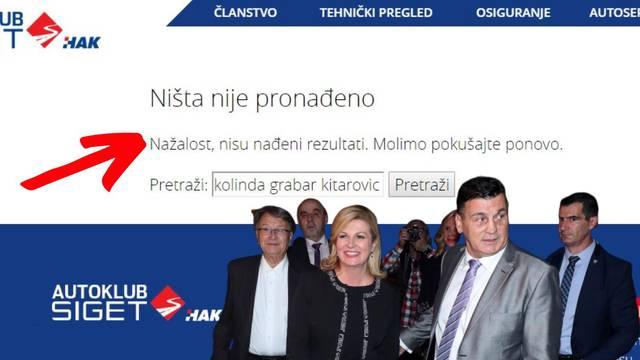 S weba Škarinog Autokluba su nestale fotke Kolinde, vijesti...