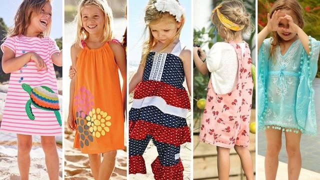 Top 20 kombinacija za plažu za djevojčice - ugodno i razigrano