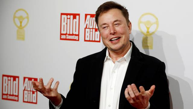 FILE PHOTO: Tesla CEO Musk at an auto awards show in Berlin in 2019
