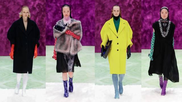 Prada smatra da je važno nositi visoke kožnate rukavice u boji