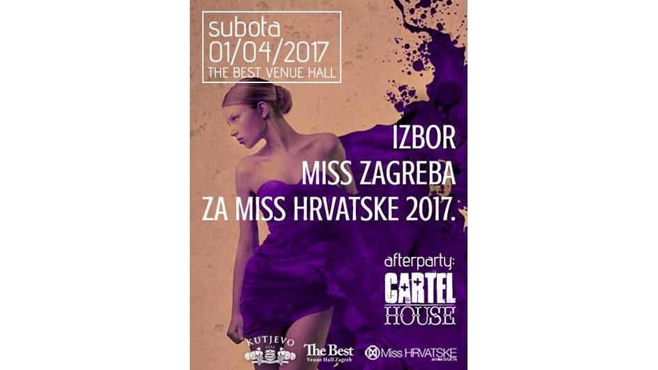 Osvojite ulaznice za izbor Miss Zagreba 1.4. i after party