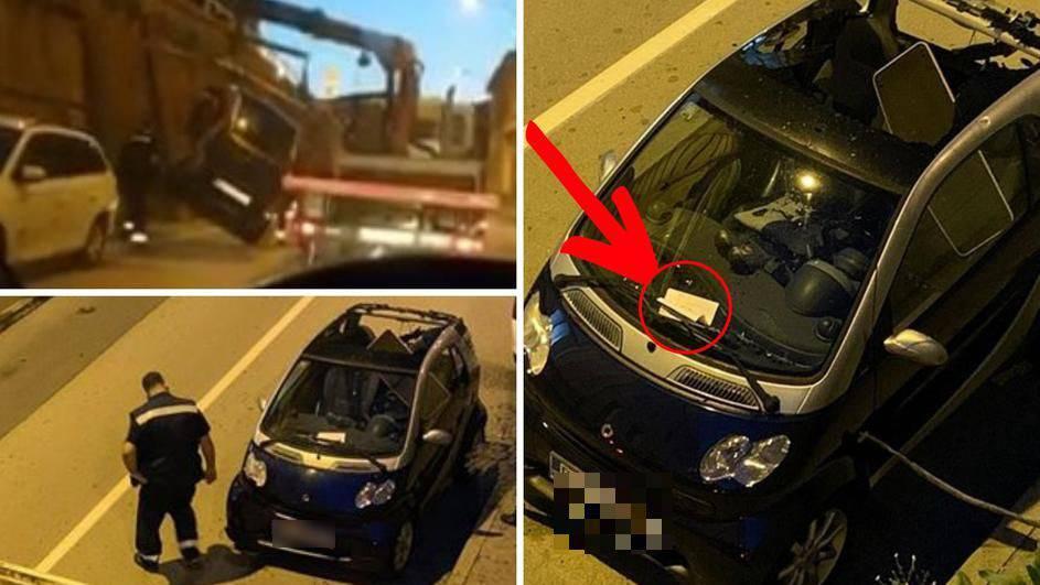 Šlampavi 'pauk' iz Rijeke: 'Ups, pao nam je auto. Ups, evo opet'