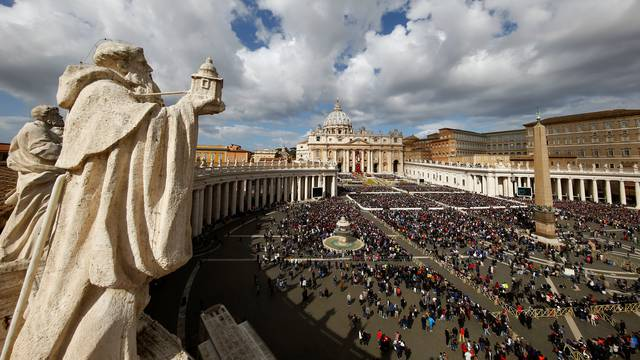 Pope Francis leads the Easter Mass at St. Peter's Square at the Vatican