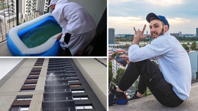 Srpski YouTuber ispraznio bazen s desetog kata, susjedi bijesni: 'Kad seljak dođe u veliki grad...'