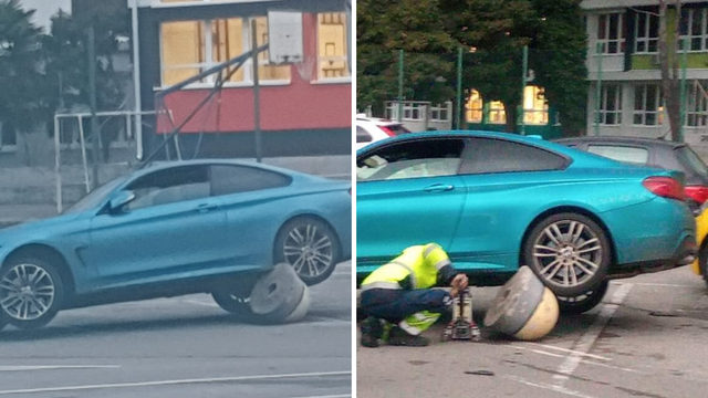 Išao u rikverc s BMW-om pa naletio direktno na - čunj...