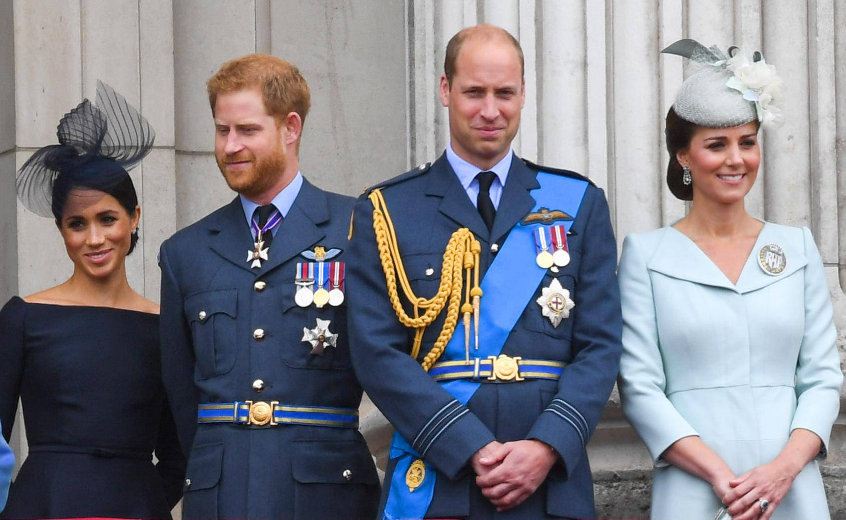 Royals Watch The Flypast To Commemorate Royal Air Force Centenary