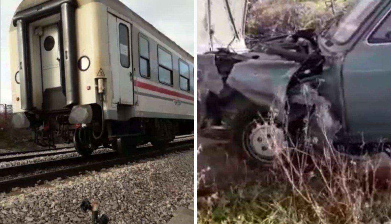 Vozač prošao bez ozljeda, vlak smrskao auto u Kaštel Sućurcu