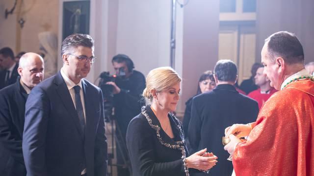 Dubrovnik: Predsjednica i premijer na misi u katedrali Velike Gospe