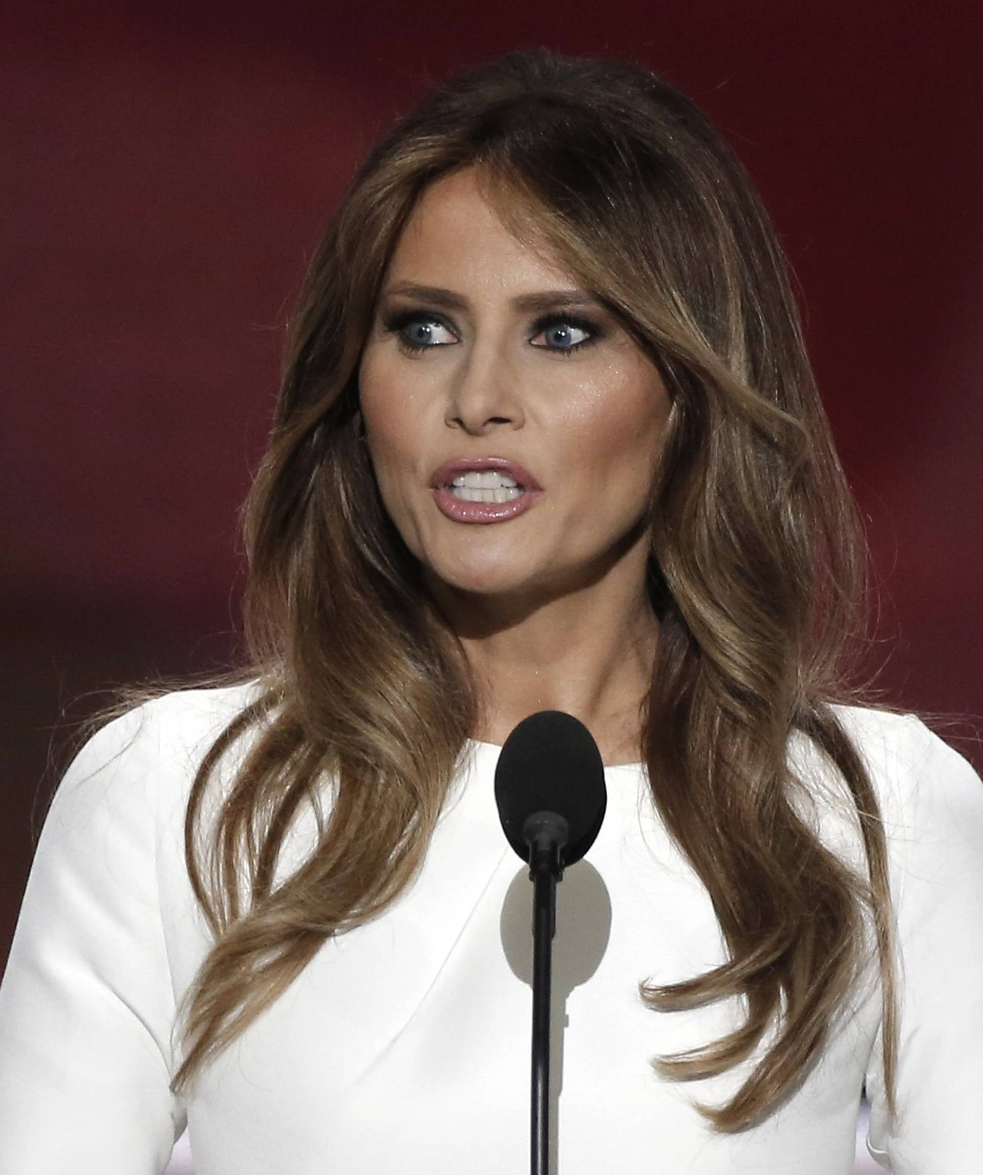Melania Trump, wife of Republican U.S. presidential candidate Donald Trump, speaks at the Republican National Convention in Cleveland