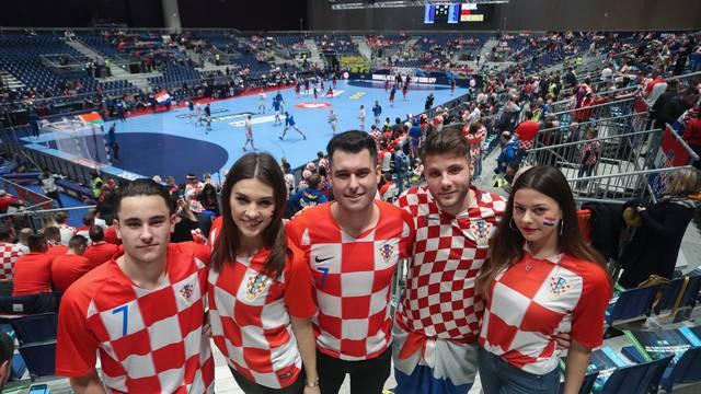 Graz: Atmosfera u dvorani Stadthalle Graz na utakmici Hrvatske i Bjelorusije
