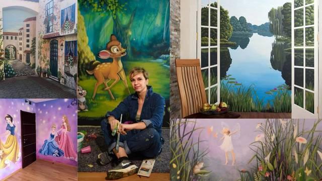 Samouka slikarica iz Lepoglave: Oživljavam bajke na zidovima
