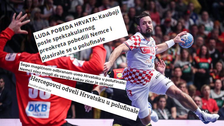 Mediji iz regije: Hercegovci su odveli Hrvatsku u polufinale!