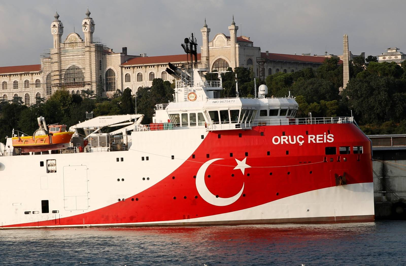 FILE PHOTO: Turkish seismic research vessel Oruc Reis is seen in Istanbul