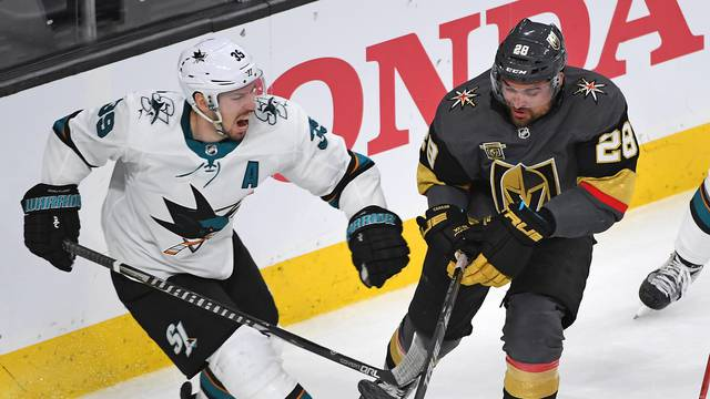 NHL: Stanley Cup Playoffs-San Jose Sharks at Vegas Golden Knights