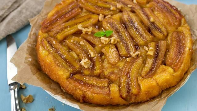 Kolač od karamelizirane banane i čokolade - gotov za 20 minuta