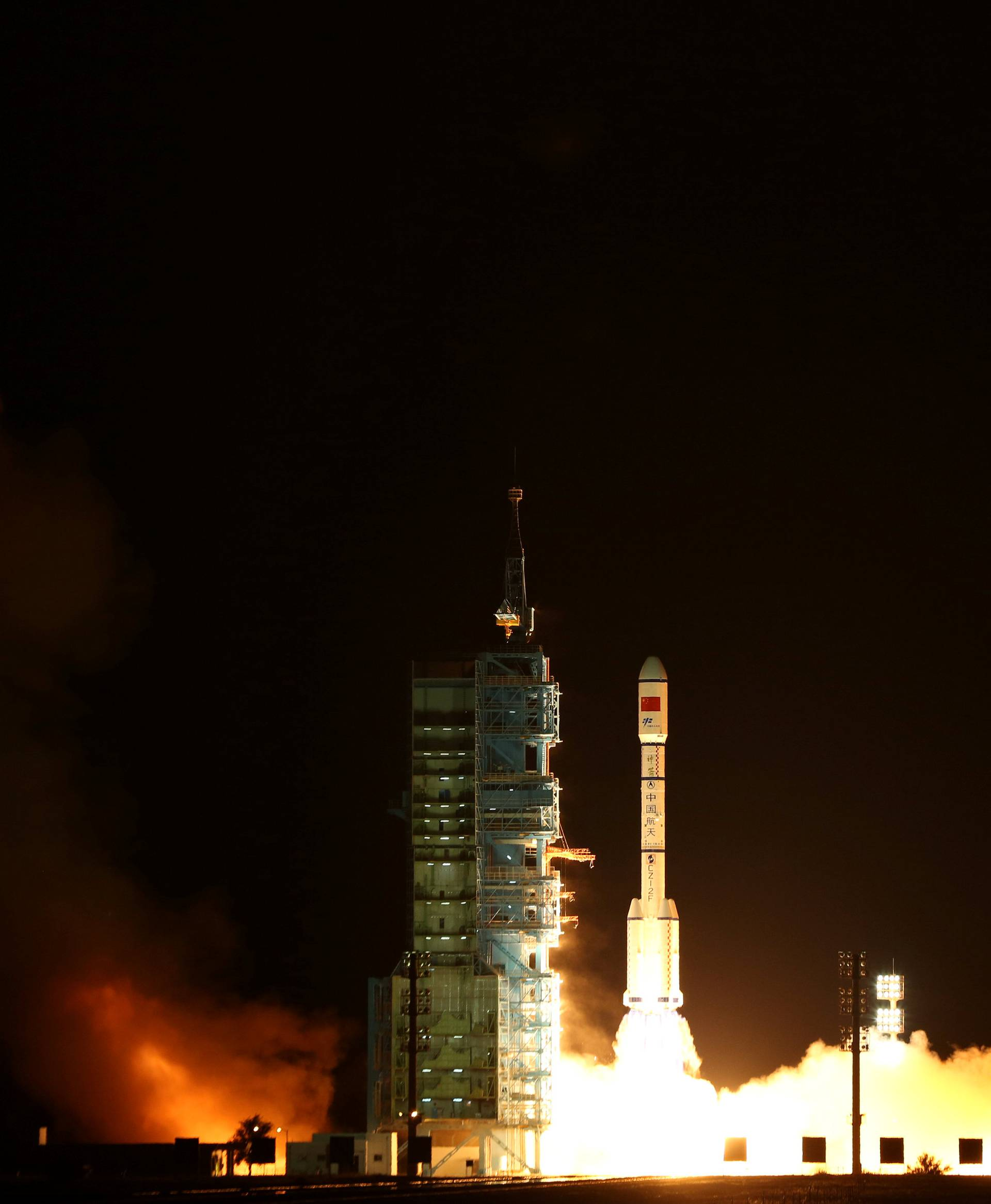 Tiangong-2, China's second space laboratory lifts off from the launch pad in Jiuquan