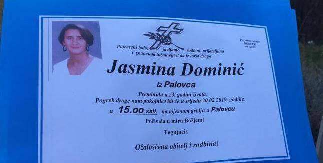 Jasmina je umrla od udaraca u glavu? Pokopat će je već sutra