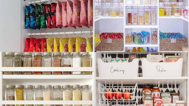 Organizirajte hranu, smočnicu i police tako da ništa ne bacate