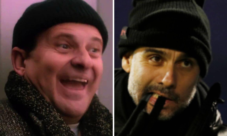 BBC: Pep s tom kapom izgleda kao provalnik iz 'Sam u kući'...