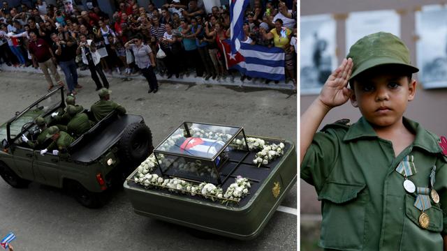 Oproštaj: Urnu s Castrovim pepelom vozili su kroz gradove