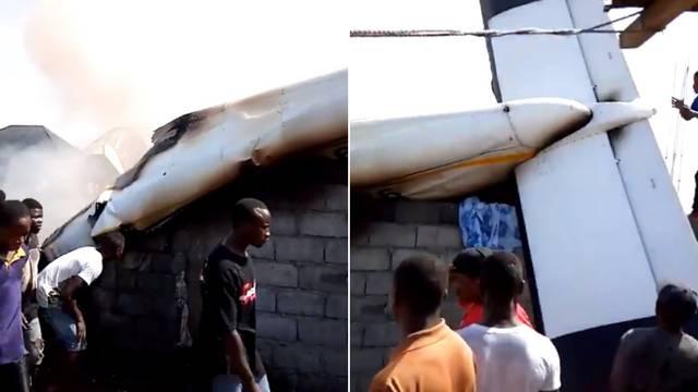 Zrakoplov se srušio na kuće u Kongu, najmanje 23 poginulih