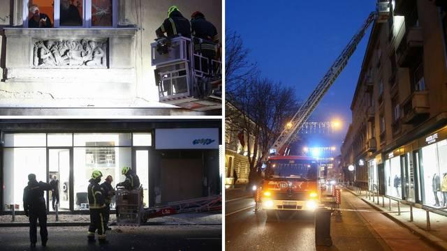 U centru Zagreba srušili dio fasade da ne padne na nekoga