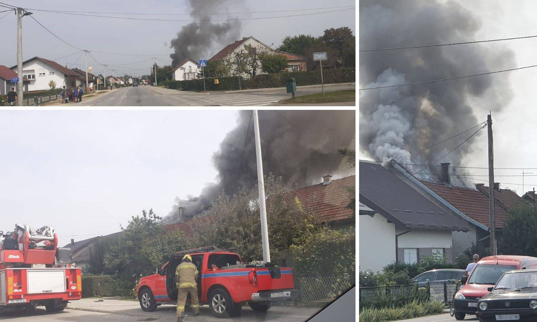 Zapalio se krov kuće u Ivanić Gradu: 'Užasno je izgledalo'
