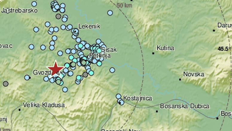 Potres 3,2 po Richteru zatresao Baniju, epicentar kod Gline: 'Stvari su padale po kuhinji...'