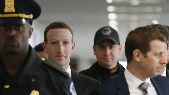 Mark Zuckerberg arrives for meeting with U.S. Senator Nelson on Capitol Hill in Washington