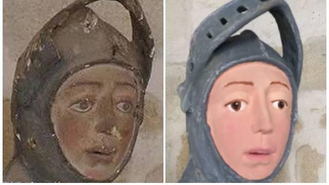 Zar opet? Stručnjak popravljao drveni kip i unakazio sv. Jurja