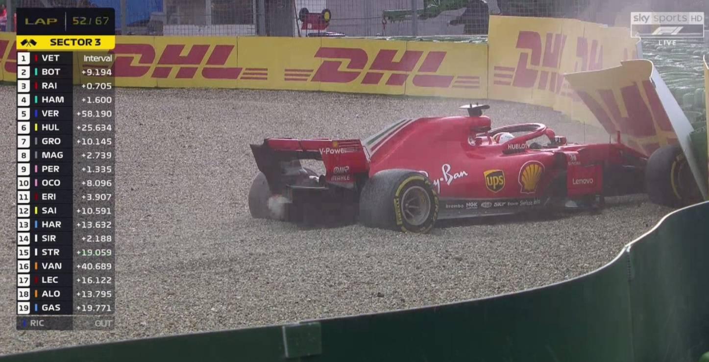 Šok za Ferrari: Vettel je izletio, Hamilton krenuo 14. i pobijedio