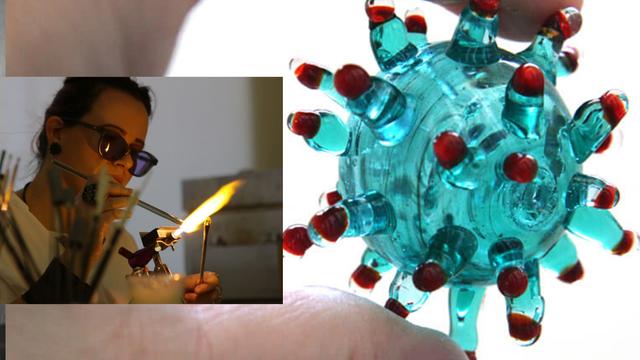 U kućnoj radionici napravila je stakleni model koronavirusa...