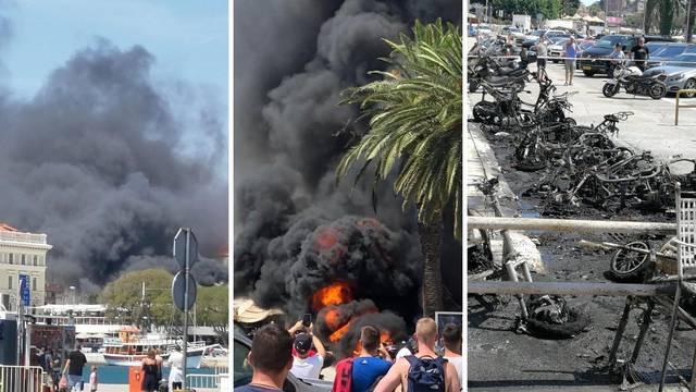 Deset motora izgorjelo, jer se samozapalio električni moped