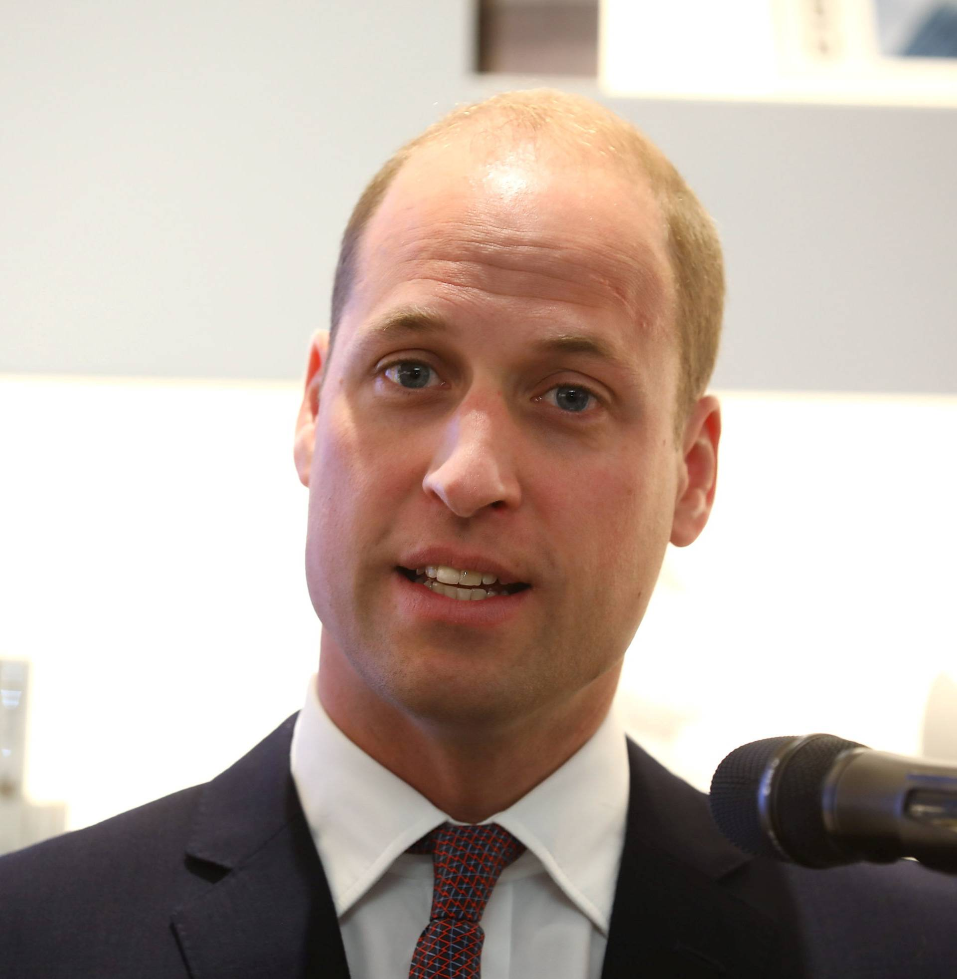 Britain's Prince William makes a speech at the official opening of Japan House in London