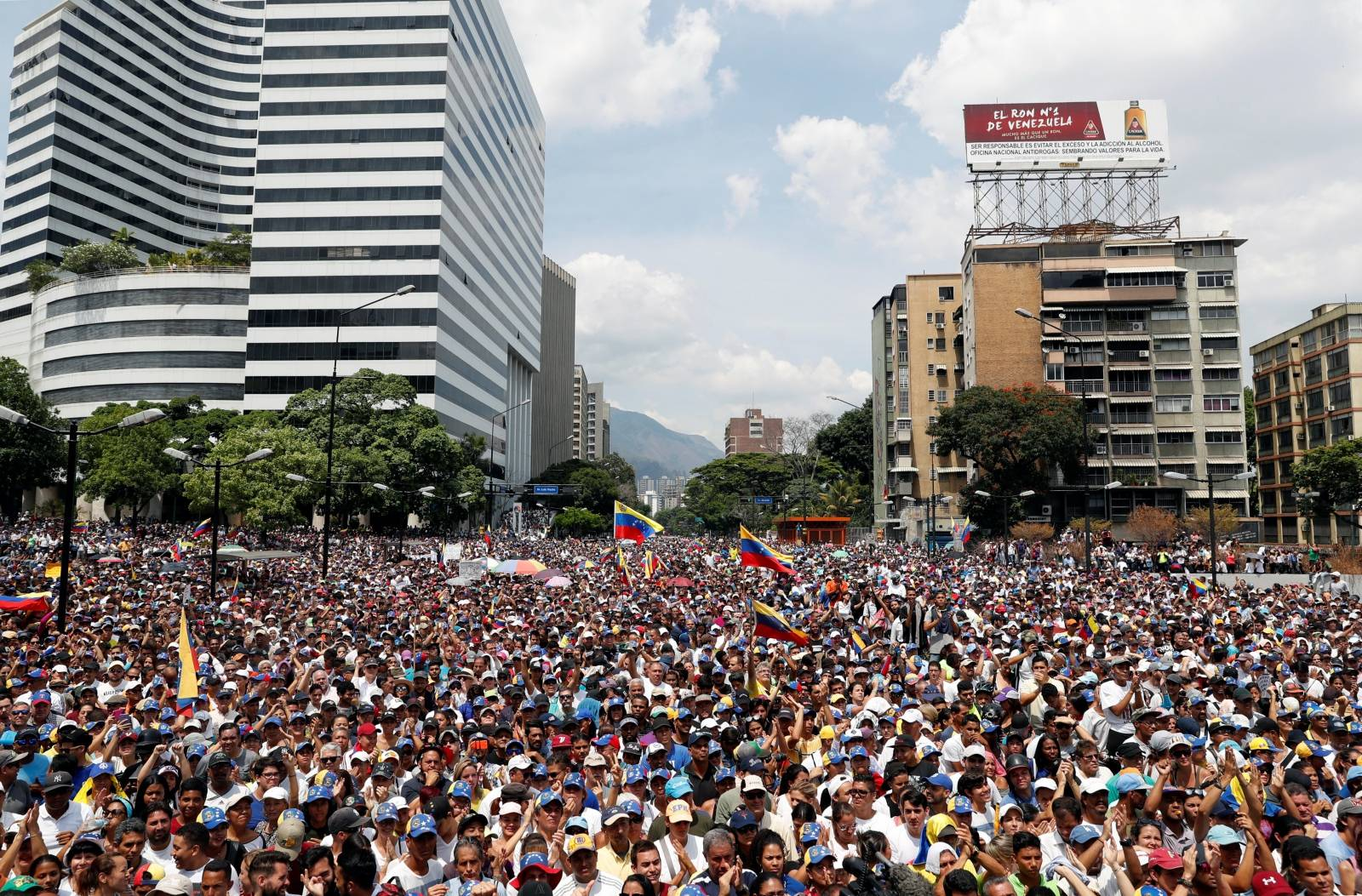 Rally against the government of Venezuela's President Maduro and to commemorate May Day in Caracas