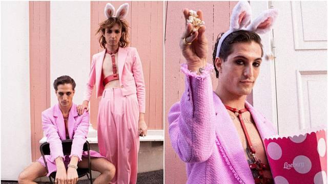 Damiano iz Maneskina pozirao obučen u kostim ružičastog zeca