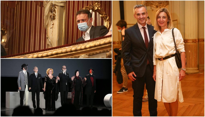 Meštar i supruga Senka redovni su gosti HNK, a u kazalištu se ukazao i Gordan Jandroković
