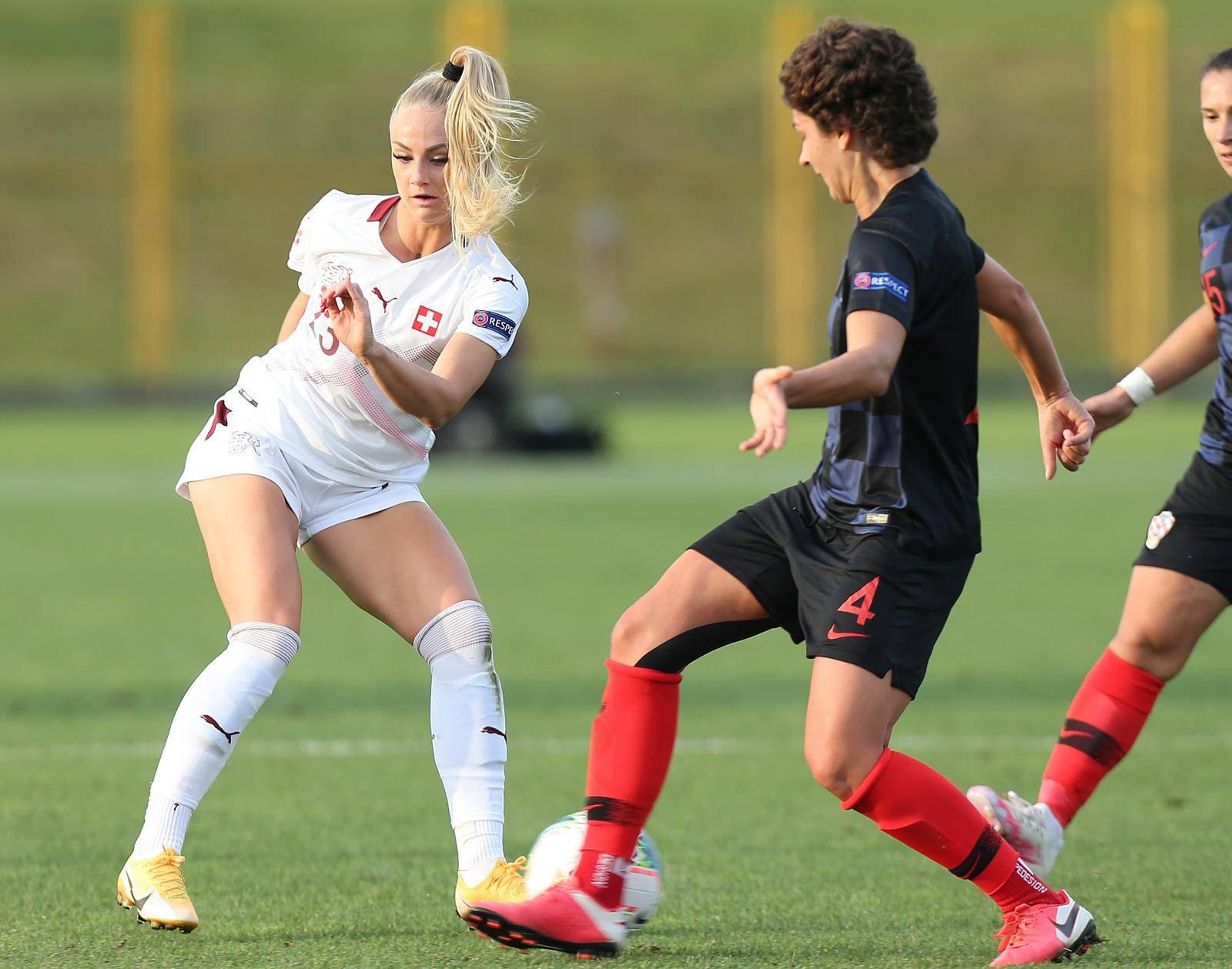 Zaprešić: Kvalifikacijska utakmica za žensko nogometno EP, Hrvatska - Švicarska