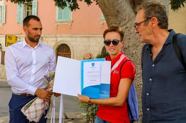 Madulin: Upriličen doček za paraolimpijku Mikelu Ristoski