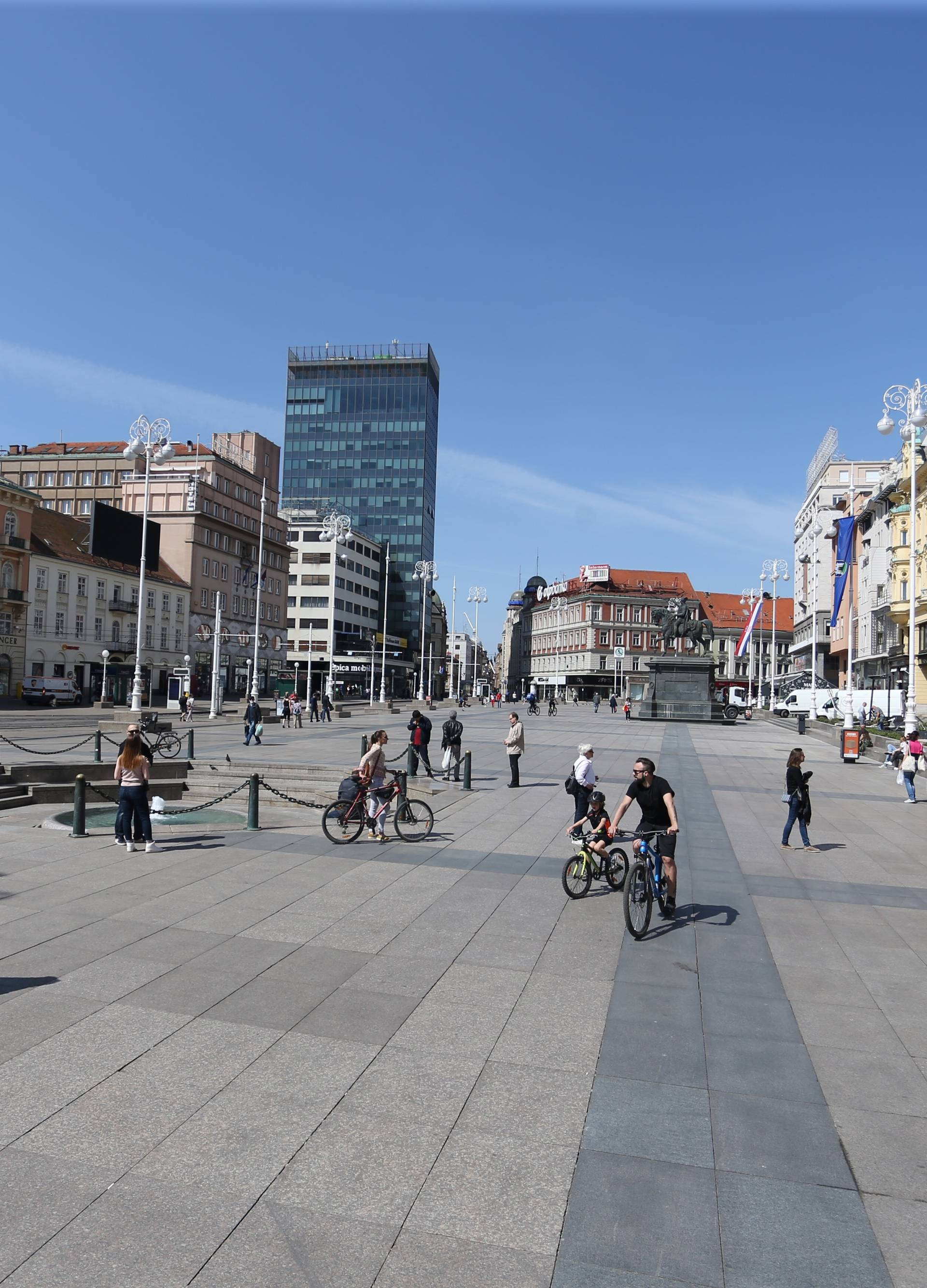 Centar Zagreba u vrijeme koronavirusa