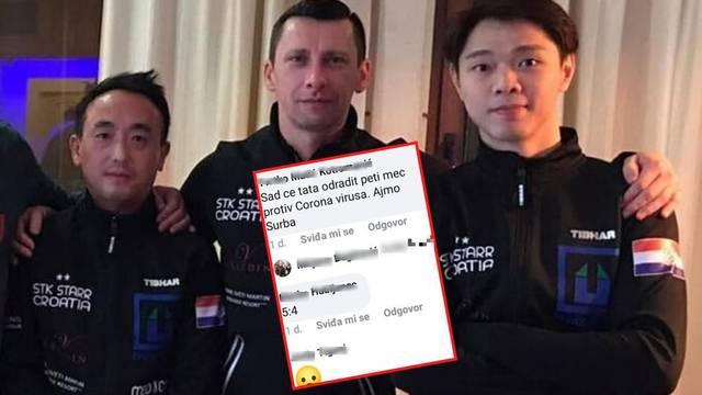Skandalozno! Hrvatski trener Kinezu: 'Jaka serva, Koronka'