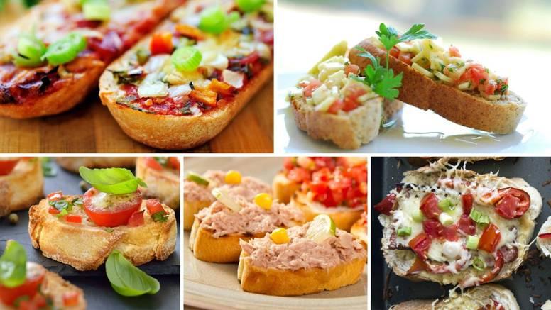 Bruschette na 5 slasnih načina: Sa slaninom i rajčicama, tunom, à la caprese, na mediteranski...